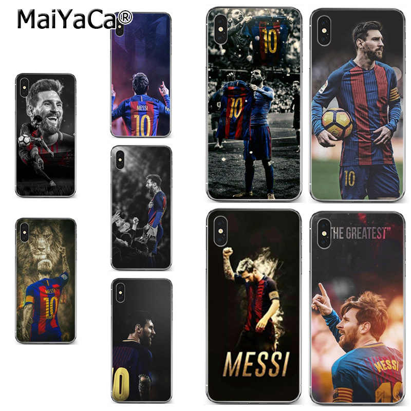 MaiYaCa Lionel Messi football score soft tpu phone case cover for iPhone X XS MAX 5 6SPLUS 7 8plus case Coque funda