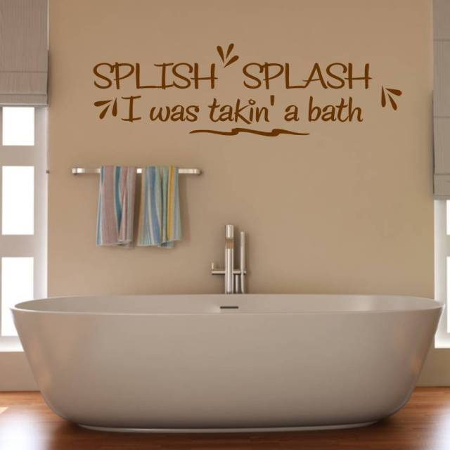 Bathroom Waterproof Decoration Splish Splash Bathroom Wall Sticker