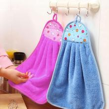 Новинка, полотенце, 3 цвета, Кухонное, для чистки рук, подвешивается, полотенце из микрофибры для малышей, мягкое, подвешивается, детское полотенце, кухонный инструмент