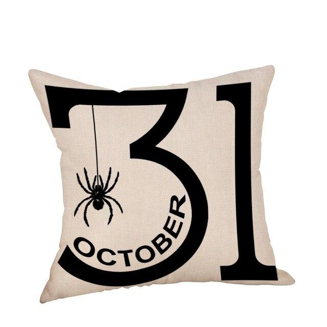 """18 """"x 18"""" Cuscino Halloween Federe di Lino Divano Auto Cuscino del Sedile Zucca"""