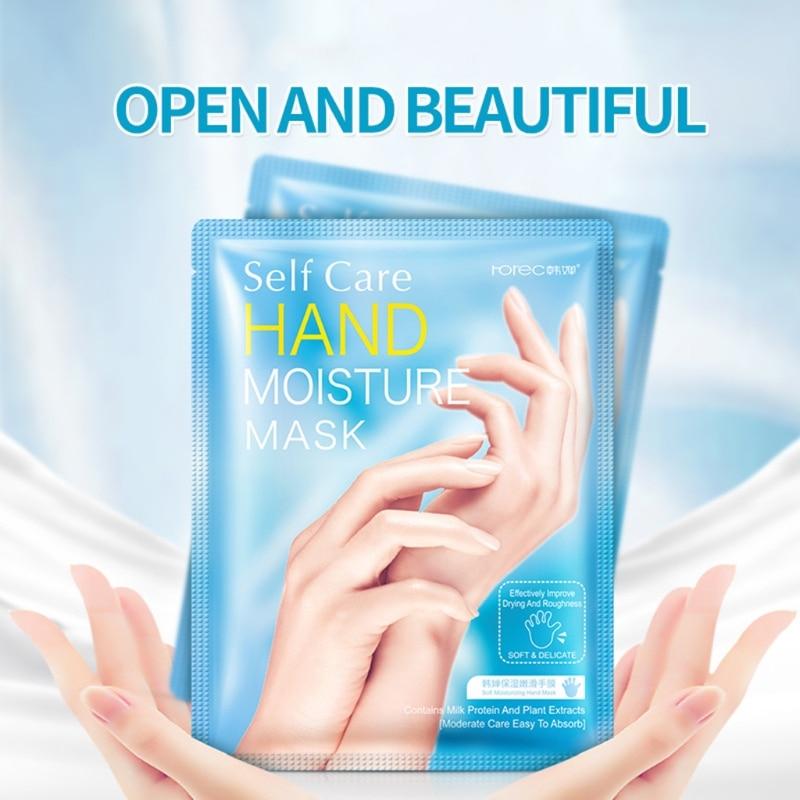 Nourishing Hand Mask Smoothening Whitening Moisture Milk Ski