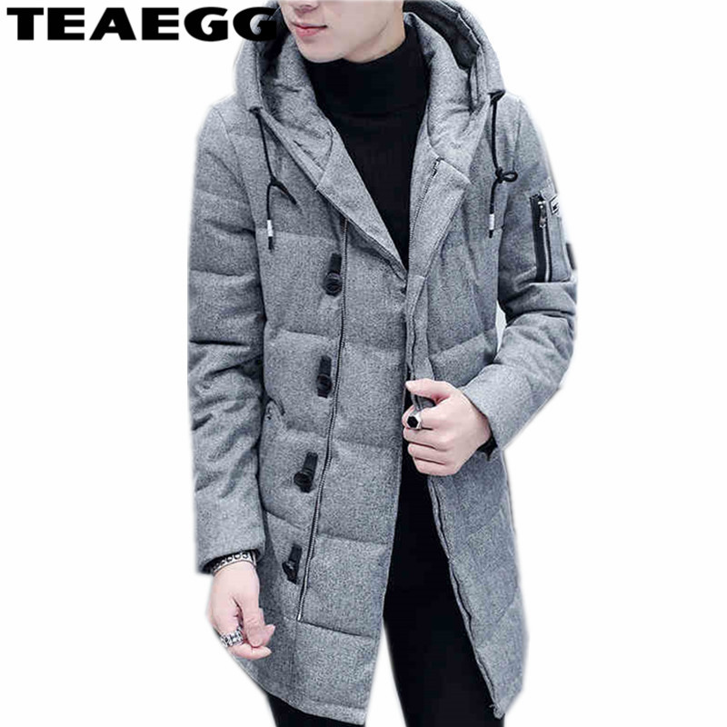 TEAEGG Hooded Cotton Padded Men Winter Jacket 2017 Warm Mens Winter Jackets Coat Outwear Parka Homme Plus Size 3XL ClothingAL257 new arrival winter jacket men warm cotton padded coat mens casual hooded jackets handsome thicking parka plus size slim coats