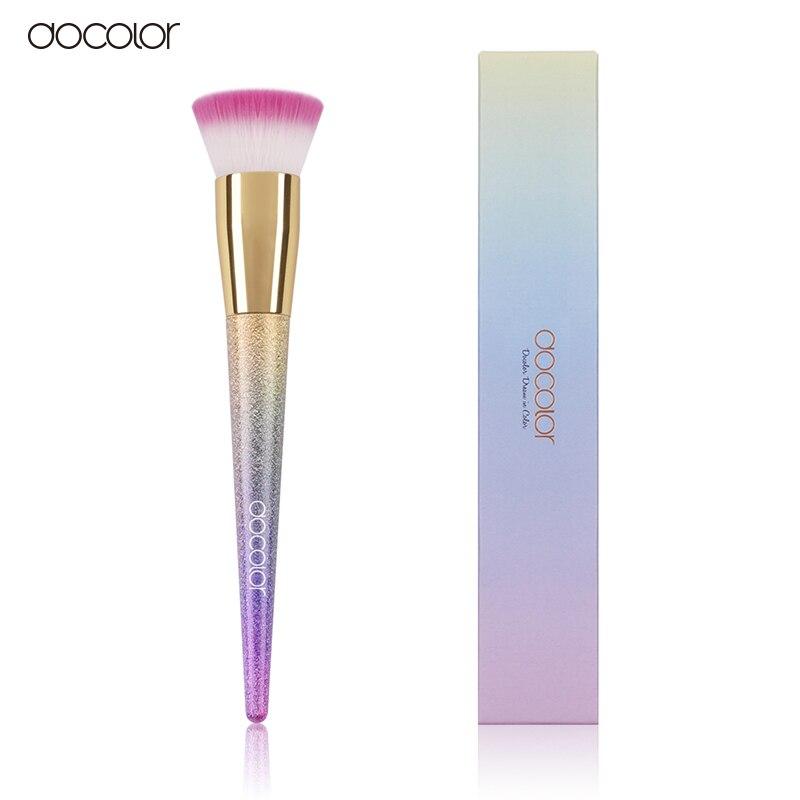 Docolor 1PCS Foundation Brush Flat the Portable BB Cream Makeup Brush Top Base Liquid Cosmetic Brush Professional Beauty Tools