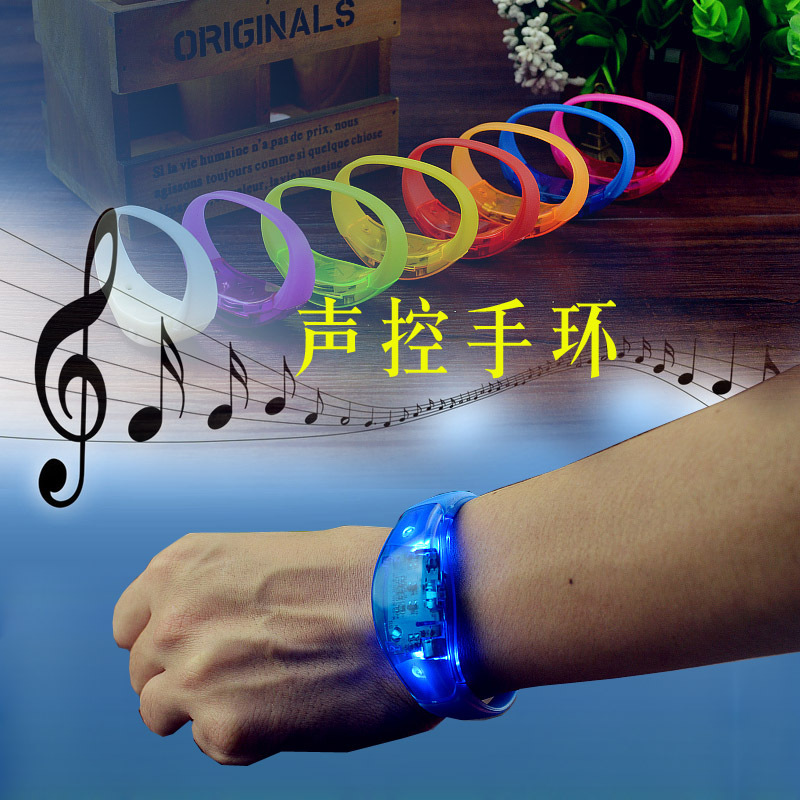 Event And Party Sound Control Led Flashing Bracelet Bangle Wristband For Night Club Activity Party Bar Music Concert 500pcs/lot