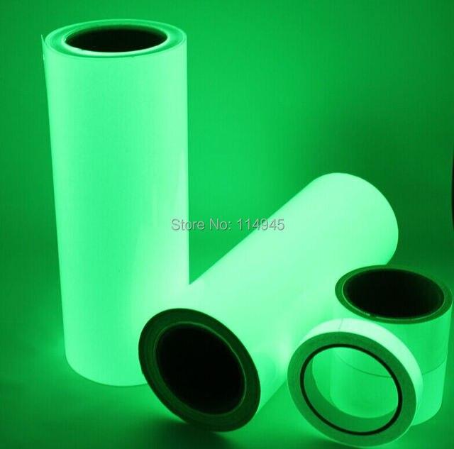 Premium brilho luminoso no escuro fita de vinil folha faixas refletoras  Shinning verde fita 50 mm 8e2591ac039