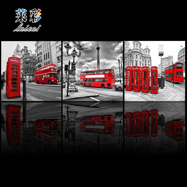 No Enmarcado] 3 Panel Wall Art Imagen de Impresión Calle de La ...