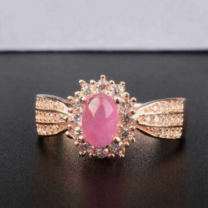 Natural Ruby Gemstone Fashion Silver Ring Women/'s Jewelry Fine