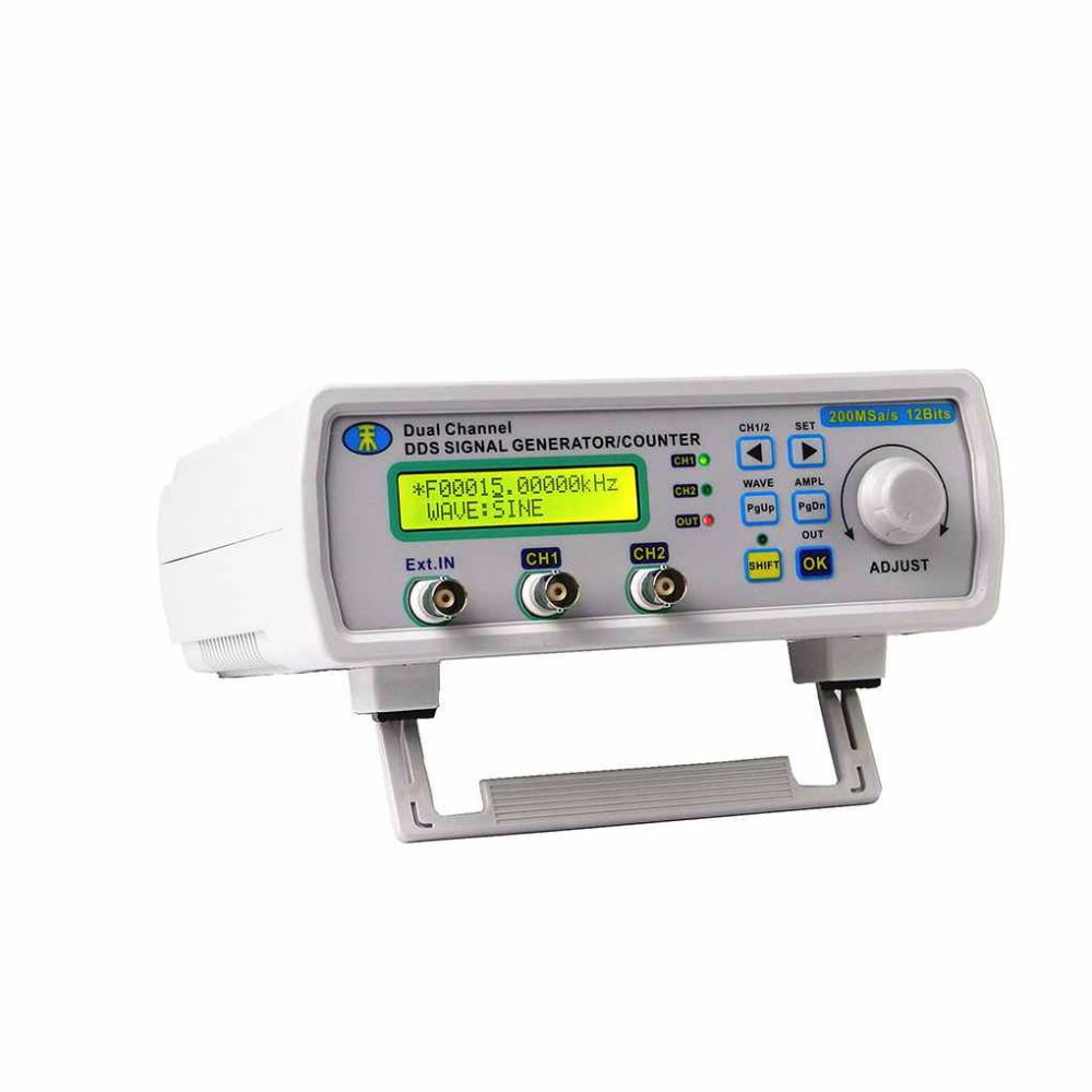 6MHz Digital DDS Dual-channel Signal Source Generator Arbitrary Waveform Frequency Meter 200MSa/s mhs 5212p power high precision digital dual channel dds signal generator arbitrary waveform generator 6mhz amplifier 80khz