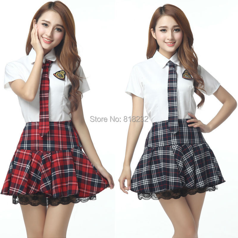 Girls Sexy High School Sailor Suit Uniform Topsskirt -9250