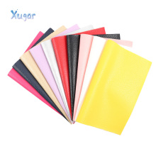 22CM*30CM Litchi Pattern Faux Leather Fabric Colorful Artificial Synthetic Pu For Sewing Bags Shoes Material DIY Craft