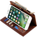 Women Travel Organizer Fashion Visiting Cards Passport Holder Wallet Two - In - One Genuine Leather Phone Case For Apple Samsung