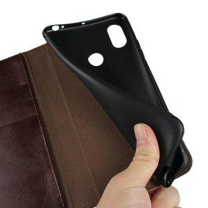 Image 5 - حافظة قلابة ل Xiao mi mi Max 3 فاخرة حقيقية جلد طبيعي الأعمال محفظة غطاء ل Xiao mi Max3 حقيبة إكسسوارات للهاتف eتوي Coque