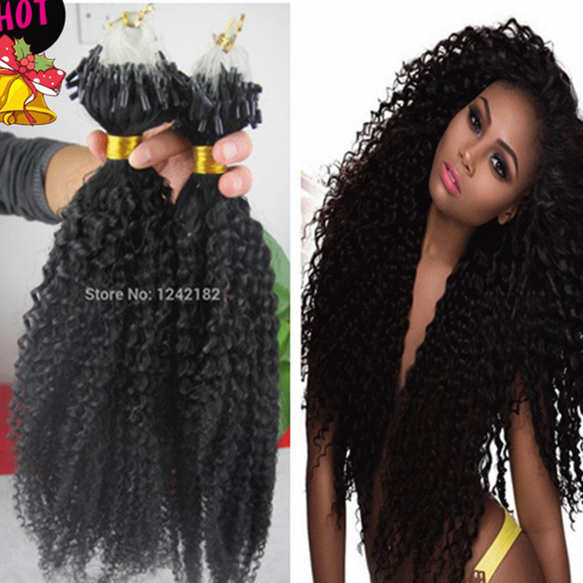 Hot Sale Micro Loop Ring Human Hair 7a Unprocessed Indian Kinky