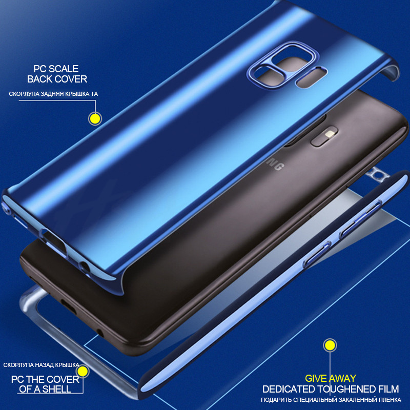 360 Full Protective Cover For Samsung Galaxy S8 S9 S10 Plus Case Full Protection Mirror Case For Samsung Galaxy Note 8 9 Cover