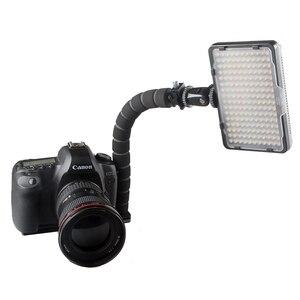 Image 3 - L字型ブラケットフレキシブルアーム一眼レフカメラホットシューマウントアダプターカメラフラッシュledライトブラケットグリップ三脚ホルダー