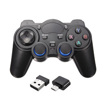 2.4G Wireless Game Controller Joystick Gamepad With Micro USB OTG Converter Adapter For Android TV Box For PC PS3 wireless gamepad gaming controller for ps3 android tv box pc gpd xd with otg converter computer joystick joypad