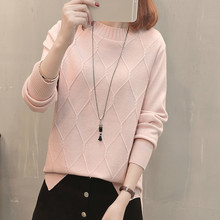 Autumn Winter Women Pullovers Sweater Knitted Elasticity Casual Jumper Fashion Loose O-neck Warm Female Sweaters