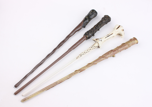 Led Lighttting 4pc/lot  magic wand light wand Hermione Granger  Lord Voldemort Ron Weasley magical wand as Christmas gift