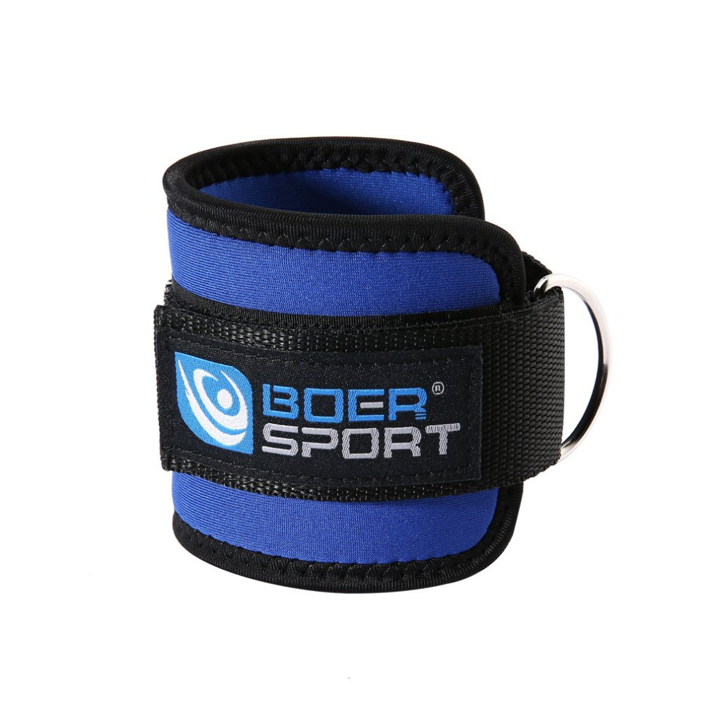 Sports Accessories 2pcs Weight Lifting Leg Pulley Fitness Sports Ankle Strap Thigh Cable Attachment Adjustable Cuff Gym Wrist Belt Double D Ring Rapid Heat Dissipation Sports & Entertainment