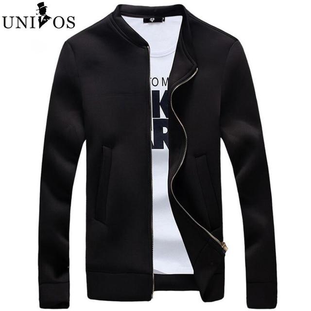 Baseball Uniform Slim Thin Men Jacket 2016 Spring Autumn Winter Fashion Clothes Of Cotton Fabric Zipper Jackets Asian Size Z2638