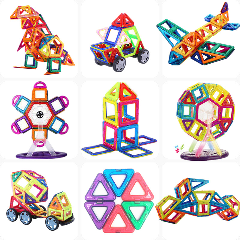 Diy 253pcs 3D Plastic Magnetic Building Blocks Mini size Magnet Designer Construction kits Model Educational Toys For Kids Gifts mini 169pcs diy magnetic blocks toys construction model magnetic building blocks designer kids educational toys for children