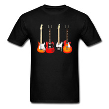Guitar T-shirt Men Crew Neck TShirt Music Day Top T Shirt Short Sleeve Latest 100% Cotton Tees Team Band Clothes Custom Store custom star war ahsoka tano t shirt for men designer summer autumn crew neck 100% cotton short sleeve t shirt sweatshirts free