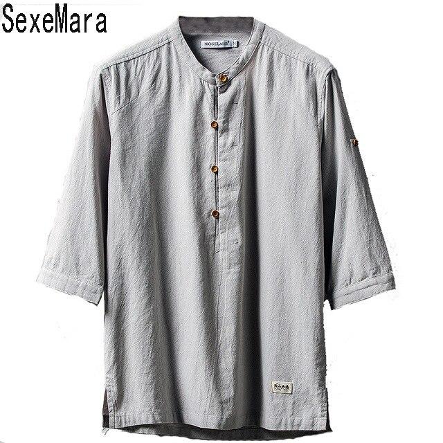 2017 Nowa Marka Odzieżowa Męskie Swetry Koszula Bielizna Mężczyźni Koszule Solid Color Slim Fit Bawełna KJ024