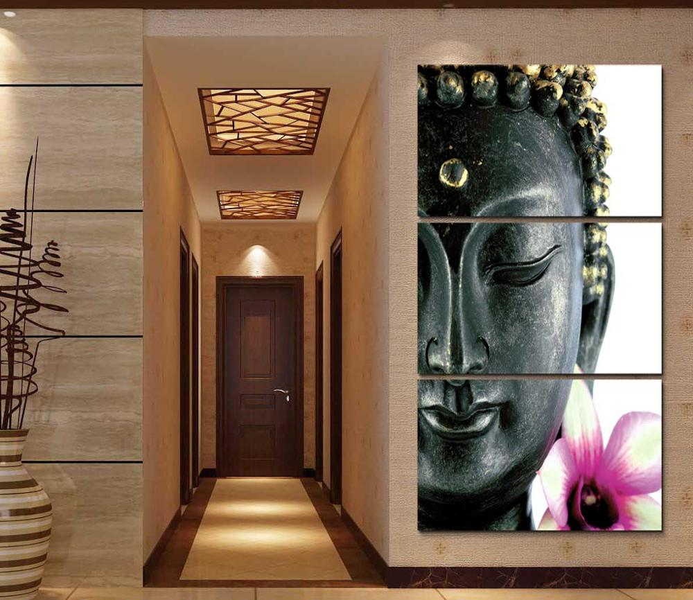 framed print abstract orchid flower buddha painting home decor art canvas print painting for. Black Bedroom Furniture Sets. Home Design Ideas