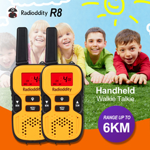 Radioddity 2 pcs Mini Walkie Talkie Kids Radio Transceiver 8CH 0.5W UHF446MHz Portable Ham Two Way Radio PMR446 EU Frequency