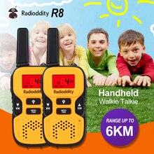 Radioddity 2 шт. Мини Walkie Talkie Дети Трансивер 8-КАНАЛЬНЫЙ 0.5 Вт UHF 446 МГц Портативный Хэм Двухстороннее Радио PMR446 ЕС Частоты