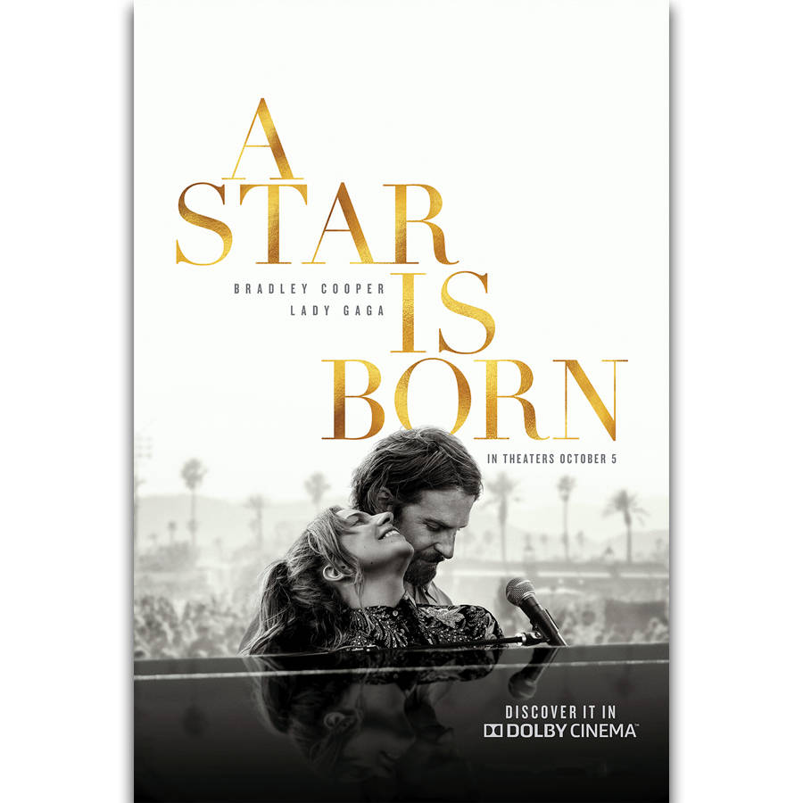 A Star Is Born Vintage Movie Poster Canvas Framed Art Print A3 A4 Sizes