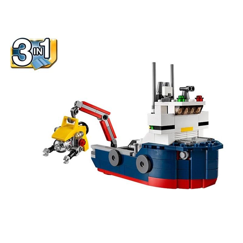 DECOOL 3112 Gradski kreator 4 u 1 Trajekt Ocean Explorer Podmornica - Izgradnja igračke - Foto 2