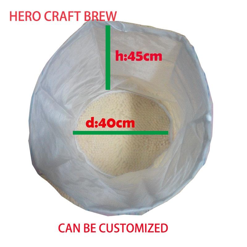 45*40cm Ttpe A 5 gallon home brew filter bag fine mesh food grade mash filter bag for batch homebrew filter bag bucket