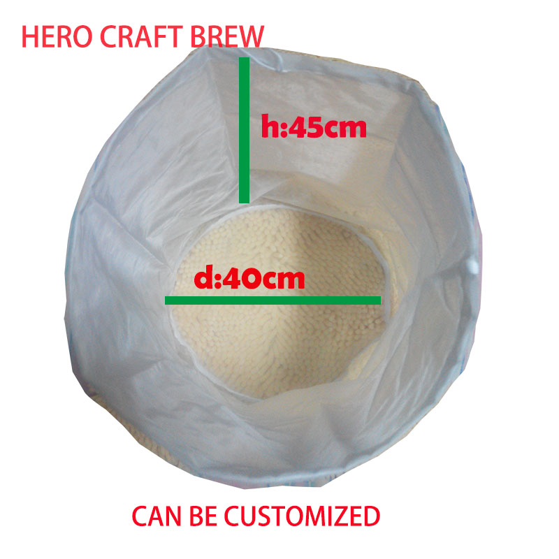 45 * 40cm Ttpe A 5 galonu mājas brūvējamais filtra maisiņš ar smalku sietu ar maisu šķirnes mash filtra maisiņu partijas homebrew filtra maisa spainim