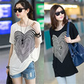 2016 New Fashion Maternity Loose Heart Printed Short Sleeve T-shirt  For Pregnant Wommen Summer O-Neck shirt