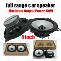 Alta calidad superventas del coche del cuerno borde de goma espuma car stereo speaker altavoz de rango completo de 4 pulgadas 2x60 W altavoz