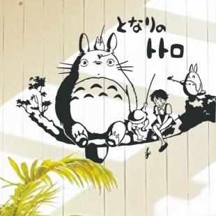 Yapon cizgi filmi Totoro Vinil Divar Dekoralı Totoro Balıqçılıq - Ev dekoru - Fotoqrafiya 1