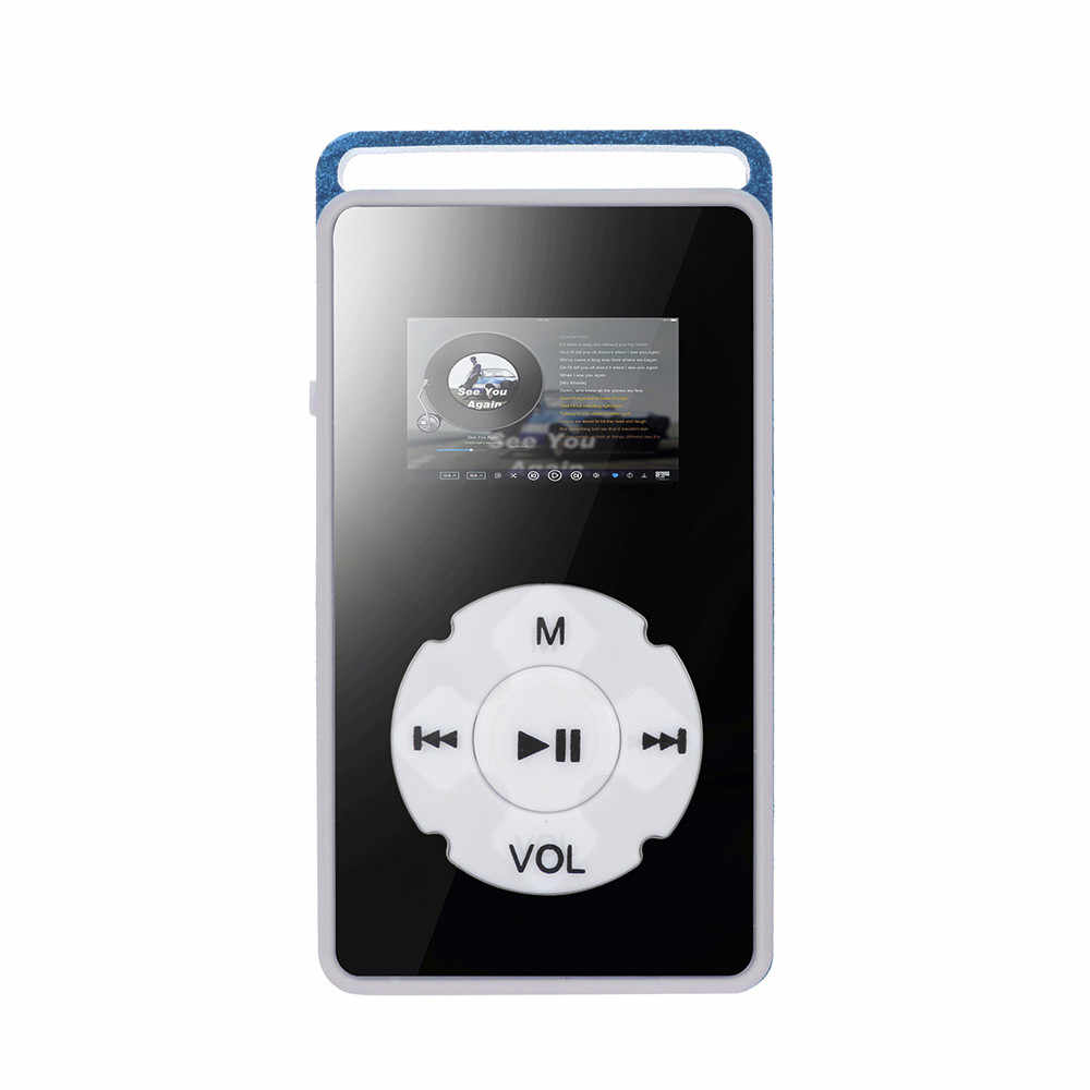 2 piezas con puerto de alimentación Micro USB Digital MP3 reproductor de pantalla LCD soporte Micro SD TF TARJETA DE 32G espejo plástico para medios de música 10Apr 15