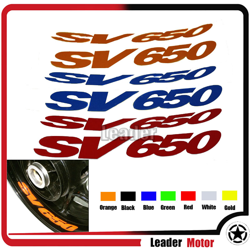 Motorcycle Rim Wheel Decal Accessory Sticker for Suzuki SV 650S