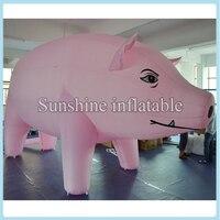 Custom Made Sống Động Như Thật Inflatable Mỡ Pig với Fan, Inflatable Adveriting Heo Màu Hồng với Máy Thổi Khí