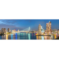 H484 diamond painting city landscape,diamond embroidery full square,diamond painting Rotterdam skyline