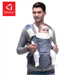 Bebear الطفل الناقل AX16 0-30 أشهر 4 في 1 الرضع مريحة حقيبة ظهر ذات حمالة الورك مقعد حامل ولفة للأطفال مريح الطفل حزام
