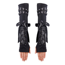 Devil Fashion Unisex Winter Arm Warmers Black Red Warmer Fingerless Arm Sleeves Cotton Material For Arm Protection HDS111