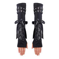 ปีศาจแฟชั่นU Nisexฤดูหนาวแขนอุ่นสีดำสีแดงอุ่นFingerlessแขนแขนผ้าฝ้ายวัสดุสำหรับการคุ้มครองHDS111