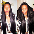 Brazilian Virgin Hair Straight 4pcs/lot natural black straight brazilian Hair extension weave bundles mega 8A grade human hair