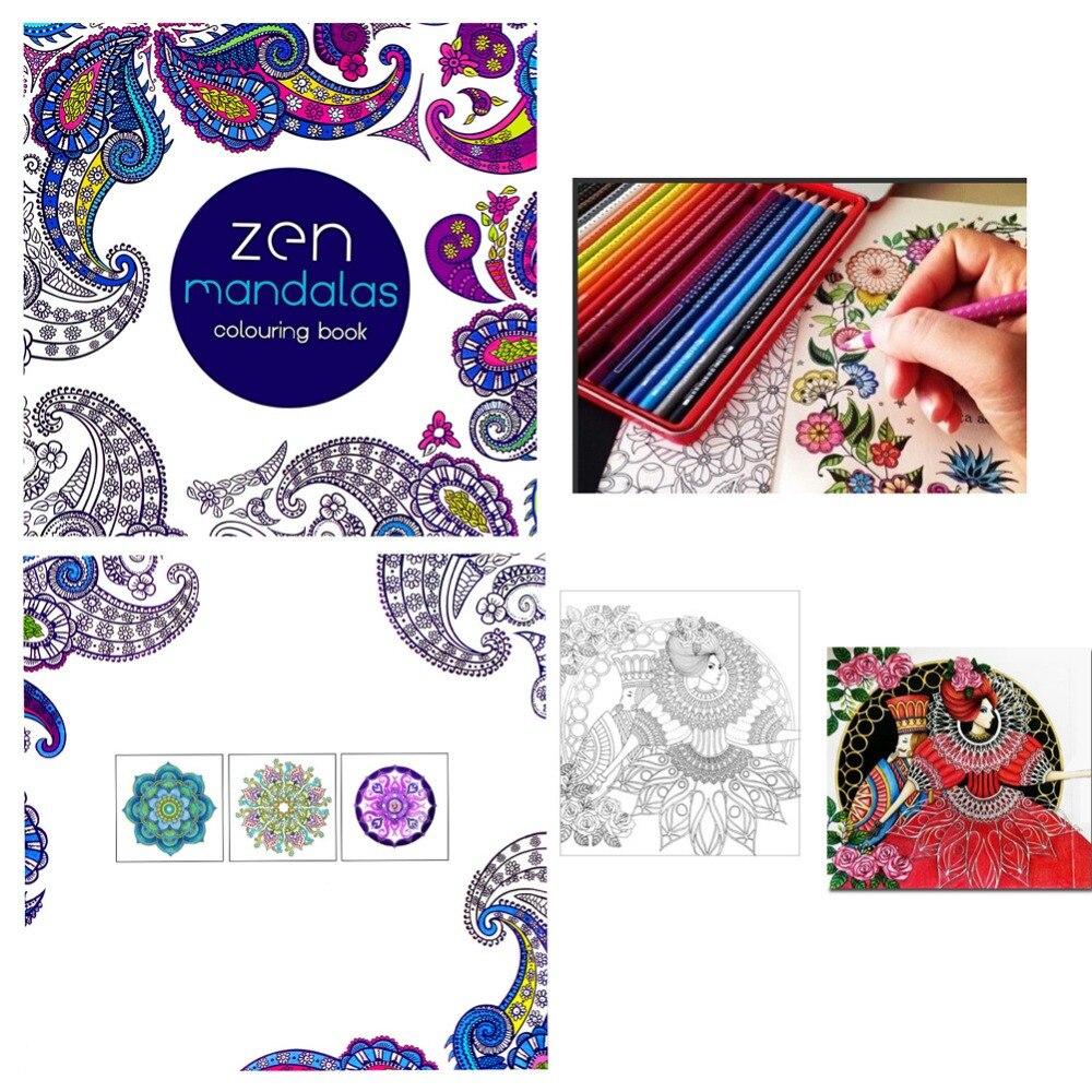 NEW Paperback Children Graffiti Coloring Book Painting English Books Zen Mandalas Painting