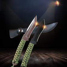 knife hunting High hardness steel Tactical Knife Paratroopers Diving Straight knife Outdoor Survival Camping Diving Blade sharp hunting knife high hardness sharp survival knife camping knife boutique collection knife free shipping