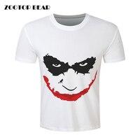 Funny Printed T Shirts Men Joker Shirt Bat Man White Casual Comics Skate Harajuku Hip Hop