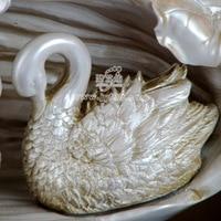 Европейский стиль аксессуары для дома смолы украшения керамическая ваза оптом творческая гостиная лебедь пара ваза sbj15