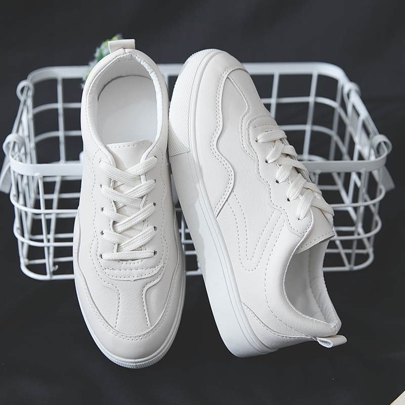 2019 Summer White Outdoor Sport Shoes Woman Running Shoes Women Sneakers Solid Lace-up Platform Walking Jogging Sneakers2019 Summer White Outdoor Sport Shoes Woman Running Shoes Women Sneakers Solid Lace-up Platform Walking Jogging Sneakers